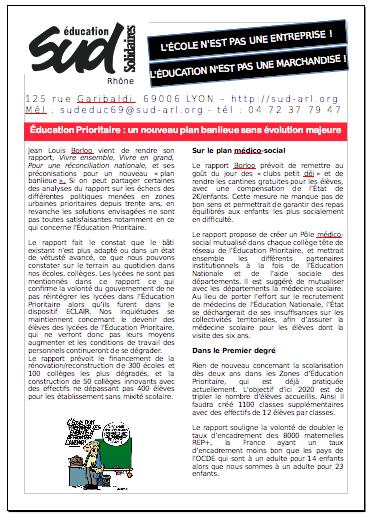 dc34db9889a Éducation Prioritaire   un nouveau plan banlieue sans évolution ...